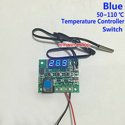 DC 12v Blue Digital LED Temperature Meter Controller Thermostat Modul Switch