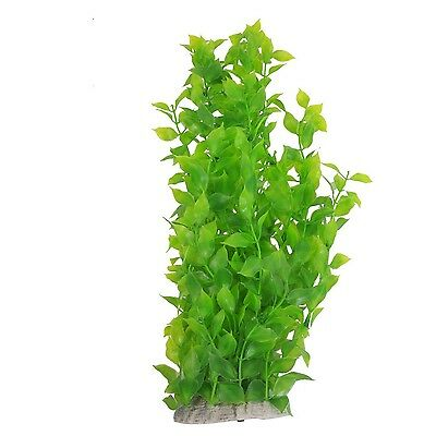 Sourcingmap Plastic Aquarium Leaves Water Plants Decoration 40 cm Green