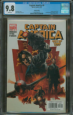 Captain America #6 Bucky Variant CGC 9.8 1st appearance of Winter Soldier