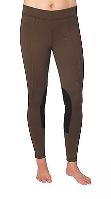 Kerrits Fleece Performance Winter Riding Tight-Bronze Herringbone-L