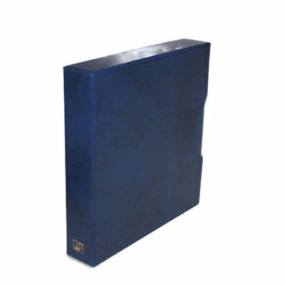 "Seven Seas 32mm ""D"" Ring Stamp Binder & Slipcase For Stamps, Banknotes - BLUE"