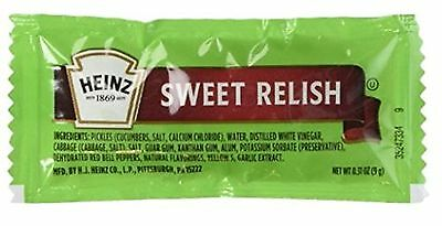 Heinz Sweet Relish Single Packs 50 Packs [Pickle Relishes] [Gourmet Food] NEW