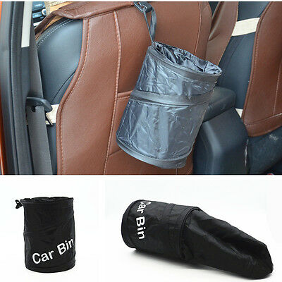 Car Universal Trash Can Storage Box Bucket Container Pop Up Garbage Bag Foldable
