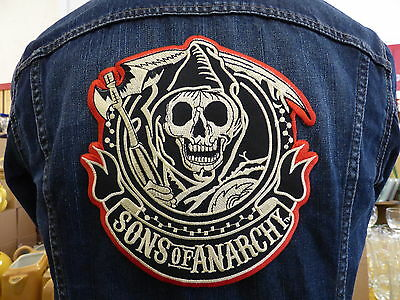 GRAND ECUSSON PATCH THERMOCOLLANT/ SONS OF ANARCHY SOA biker country trike usa