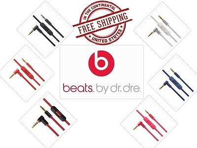Original Cable Beats By Dre Headphones Wire Cord For AUX with Mic HD Audio Color