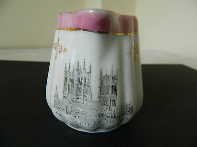 Victorian Commemorative Milk Jug Lincoln Cathedral  circa 1890