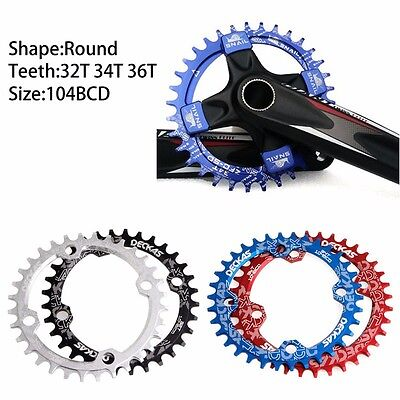 MTB Bicycle Mountain Bike Gear BCD104 Round Chainring 32T 34T 36T