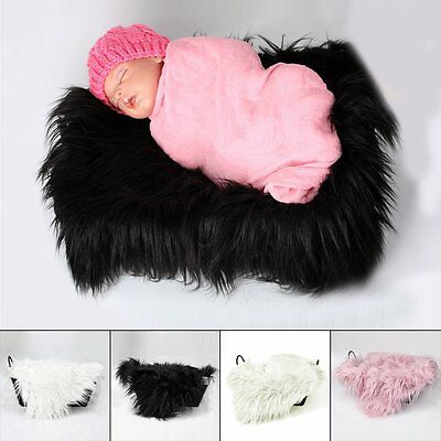 Newborn Baby Soft Photography Photo Prop Infant Backdrop Background Blanket Rug