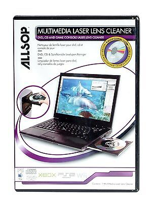 Allsop Multimedia Laser Lens Cleaner For DVD CDs Game Consoles & Laptops