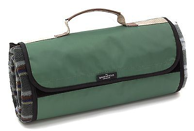 Greenfield Collection Lightweight Fully Lined Picnic Blanket - Green