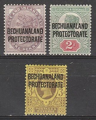 Bechuanaland 1897 Qv Protectorate 1D 2D And 3D