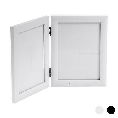5x7 Folding Double Photo Picture Frame In White
