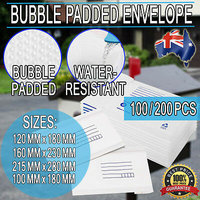 Bubble Padded Mail Envelopes Letter Postage Supply Mailer Shipping Post Bags