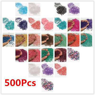 500Pcs Round Czech Glass Seed Loose Spacer Beads Jewelry Making  DIY Charm 4mm
