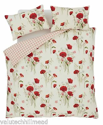 House Additions Multi Floral Poppies Single Duvet Set