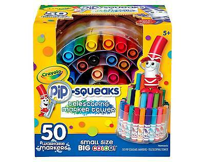 CRAYOLA 58-8750 Pip Squeaks Telescoping, Washable Marker Tower 50 ...