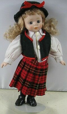 """Vintage 15"""" Tall Porcelain Doll With Dress Musical"""