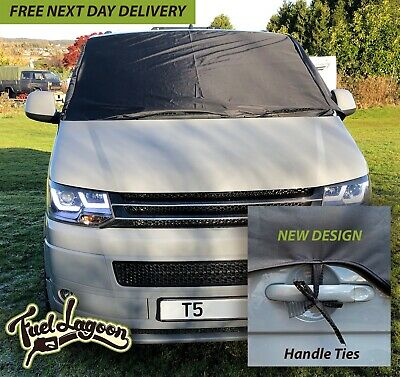 VW Transporter T5  Window Screen Curtain Wrap Cover Frost Black Out Blinds
