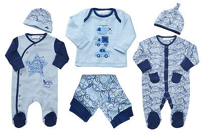 Babytown Baby Boys Cars Pyjamas Babygro 2 Pc Sleepsuit Hat Newborn Xmas Gift Set