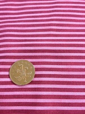 100% cotton quilting Fabric Pink Red Claret Stripe Graphix paintbrush studios