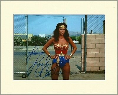 Lynda Carter Wonderwoman Pp Mounted 8X10 Signed Autograph Photo Pantyhose Tights