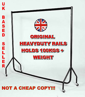 4FT 5FT 6FT Black Heavy Duty Steel Garment Clothes Display Rail Commercial Grade