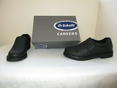 New Men's Dr Scholl's Griffin Careers Work Oil Slip Resistant Shoes Black W29