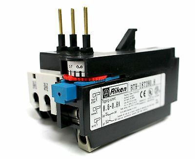 Bth-18T2H0.8 Riken Overload Relay 0.6-0.8A Amp  New Csa Approval