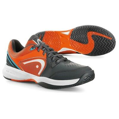 Head Revolt Team Men's Tennis Shoes  - Grey / Orange