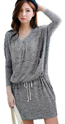 Nursing/Breastfeeding Fine Knit  Grey winter dress,size 10-16