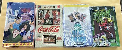 Lot Of 4 Different Non Sport Trading Card Wax Boxes