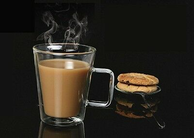 Square Handle Double Wall Glass Cup Tea Cup Coffee Cup Milk Cup Office Cup 450ml
