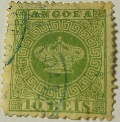 Angola   Scott#10 Used Stamp...worldwide Stamps