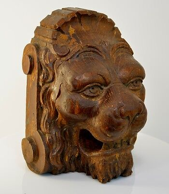 Antique Black Forest Carved Lion Head c1800's A Game Of Thrones House Lannister
