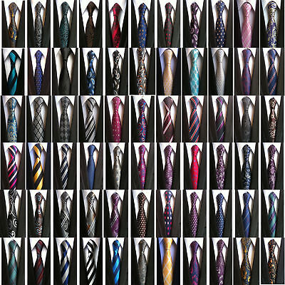 New Classic Paisley Men's 100% Silk JACQUARD WOVEN Wedding Party Necktie Tie