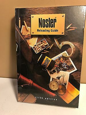 Nosler Reloading Guide 5th Edition Manual Rifle Handgun Cartridge Bullet Data HC