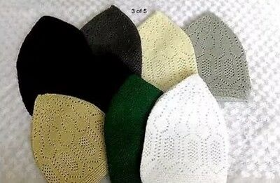 Muslim Mens prayer Cap for Namaz Skull Topi Kufi Hat Head wear