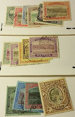 Dominica   Scott#35-49 Cpl Set   Used   ..worldwide Stamps