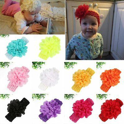 10pcs Kids Girl Baby Cute Toddler Flower Headband Hair Band Accessories Headwear