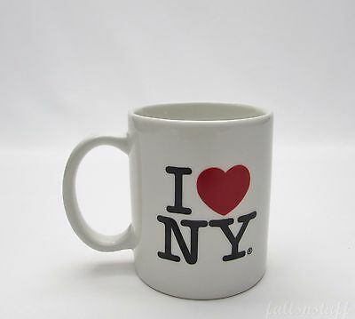 I Love (Heart) New York NY Coffee Mug Cup, White - by Kings NYC Souvenir