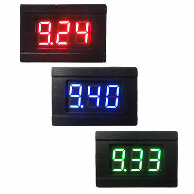 "2 Wires DC 4.5-30V Mini 0.36"" Digital LED Display Voltmeter Voltage Panel Meter"
