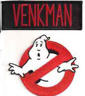 """Ghostbusters/Venkman No Ghosts Logo Screen Accurate 4"""" Patch Set of 2-(GBPA-S01)"""
