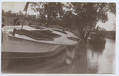 C.1908 Postcard Paddle Steamer Launching Ss Waikerie River Murray Sth Aust. W23
