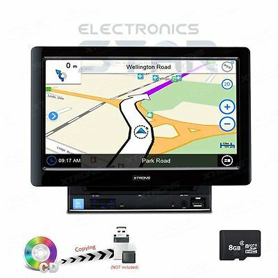"XTRONS 10.1"" Double 2 DIN In Car DVD Player Stereo Radio GPS Sat-Nav Bluetooth"