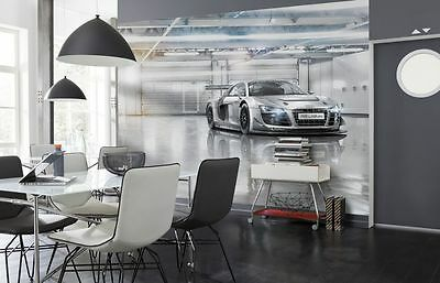 Wall Mural Photo Wallpaper AUDI R8 Sports Car Boys & Living Room Silver 368x254