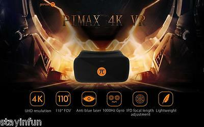 PIMAX 4K VR Virtual Reality Glasses 3D Headset for PC 110 Degree FOV 1000Hz NEW