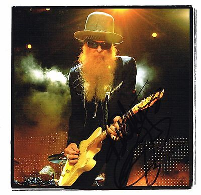 ZZ Top Billy Gibbons Hand Signed Autographed Publication Picture - Rock