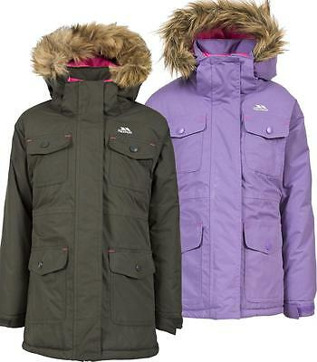 Trespass Greer Girls Jacket Parka Waterproof Insulated