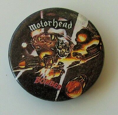MOTORHEAD BOMBER VINTAGE METAL BUTTON BADGE FROM THE 1980's