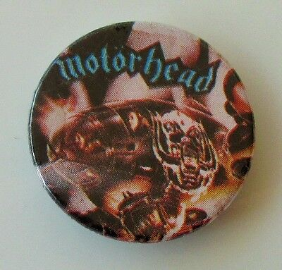 MOTORHEAD BOMBER VINTAGE METAL BUTTON BADGE FROM THE 1980's  LEMMY